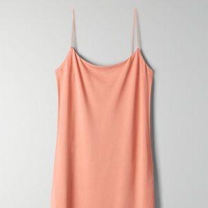 Wilfred Free Tiny Dress in tawny orange